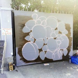 decorazione cancello ortofrutta - work in progress